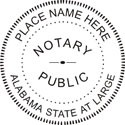 Alabama Notary Embossing Seal