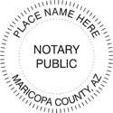 Arizona Notary Embosser Arizona Notary Public Seal Notary Seal Notary Public