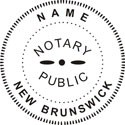 New Brunswick Canada Notary Embosser