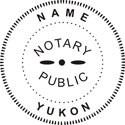 Yukon Notary Embosser Yukon Notary Public Embossing Seal Yukon Notary Public Seal