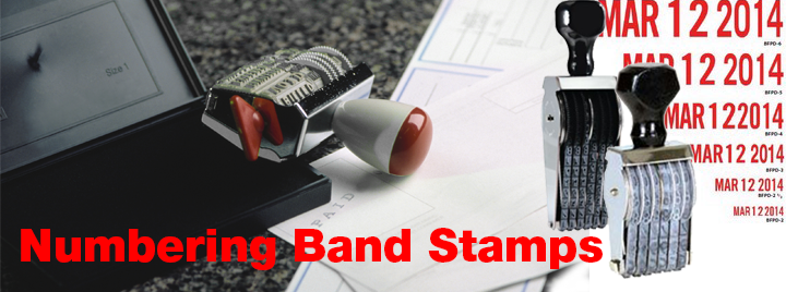 Numbering ALpha or Numbering Alphanumerical Band Stamps