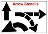 Arrows, U-Turn, Turning, Striat Line Stencils