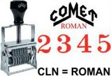 Comet Numbering Band Stamps - Roman