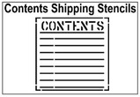 Contents Shipping Stencils