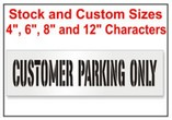 Customer Parking Only Stencils