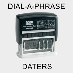 Dial-A-Phrase Dater Stamps