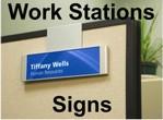 Modular Workstation Signs