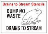 Drains to Stream Stencil Sets, Qty. 1, 10 and 50 Pack
