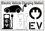 EV-Electric Vehicle Charging Stencils