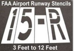 FAA Airport Runway Stencils, Choose from 3 feet to 12 feet.