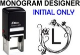 Initial Only Monogram Stamps
