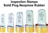 Neoprene Inspection Stamps