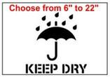 Keep Dry Stencils