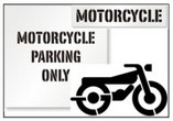 Motorcycle Parking Lot Stencils