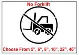 No Forklift Safety Symbol Stencil