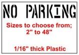 No Parking Stencils