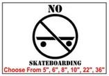 No Skateboarding Safety Symbol Stencil