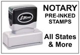 Pre-Inked Notary Stamps, for each State