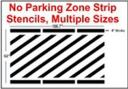No Parking Line Strip Stencils