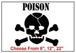 Poison Safety Symbol Stencil