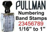 Pullman Numbering Band Stamps