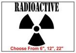 Radioactive Safety Symbol Stencil