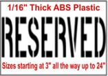 Reserved Stencils