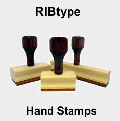 Rubber Stamps with Ribbed Rubber
