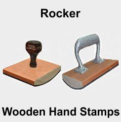 Rubber Stamps - Large Rocker