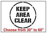 Keep Area Clear Safety Symbol Stencil