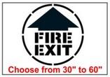 Fire Exit Safety Symbol Stencil