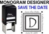 Save The Date Monogram Stamps