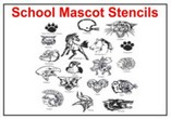School Mascot Stencils