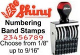 Shiny Numbering Band Stamps
