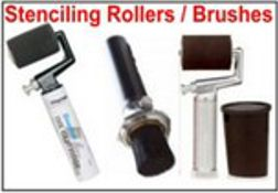 Stencil Rollers, Fountain Rollers and Stenciling Applicators