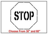 Stop Sign Safety Symbol Stencil