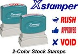 Xstamper Stock Stamps - Two Color
