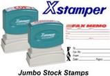 Xstamper Stock Stamps -  Jumbo
