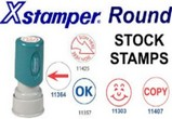 Xstamper Round Stock Stamps