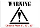 Warning Safety Symbol Stencil