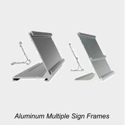 Multiple Sign Desk Frames
