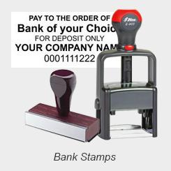 Bank Deposit Endorsement Stamps