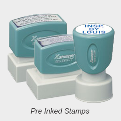 Pre-Inked Rubber Stamps