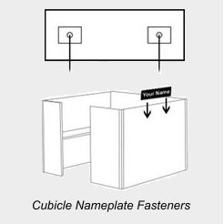 Cubicle Nameplate Fasteners