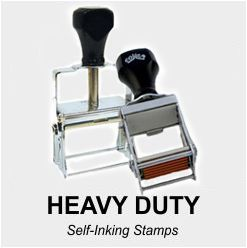 Heavy Duty Self Inking Rubber Stamps