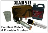 Marsh Fountain Rollers and Brushes