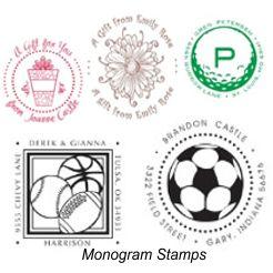 Monogram Designer Self-Inking Stamps