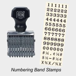 Numbering - Alpha-Numerical Band Stamps