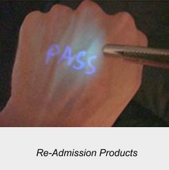 Readmission Inks, UV Lamps, UV Ink Stamps and Visible inks