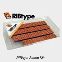 RIBtype Rubber Stamp Sets
